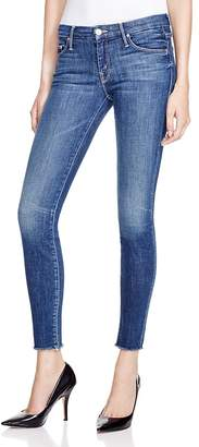 MOTHER The Looker Ankle Fray Skinny Jeans in Girl Crush $205 thestylecure.com