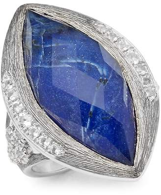 Jude Frances Women's Encore Silver Crystal & Sterling Silver Large Marquise Stone Moroccan Ring