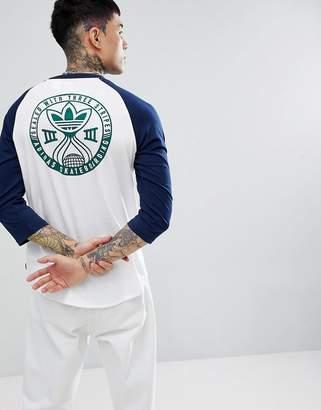 adidas Skateboarding Skateboarding Diecon Raglan T-Shirt In White CF5810