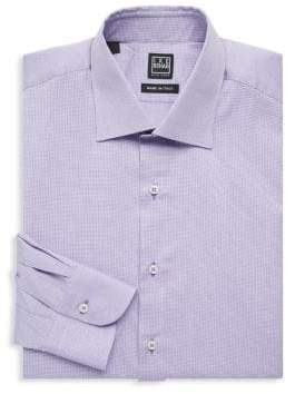 Ike Behar Regular-Fit Mini Dot Cotton Dress Shirt