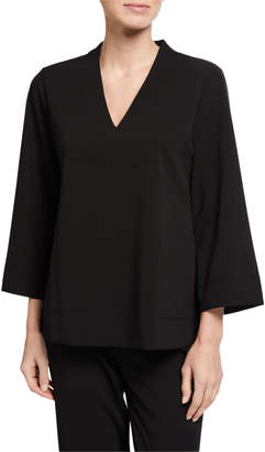 Donna Karan V-Neck Long-Sleeve Knit Tunic