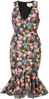 Nicole Miller floral print sleeveless dress $510 thestylecure.com