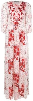 Ermanno Scervino floral print and embroidered maxi dress