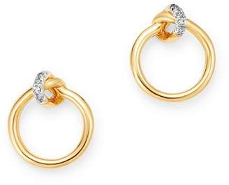 Adina Ryeter 14K Yellow Gold Pavé Diamond Knot Earrings