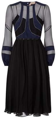 N°21 Embellished Silk Midi Dress