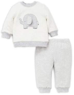 Little Me Baby Boy's Two-Piece Elephant Cotton Sweatshirt & Pants Set