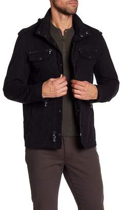 John Varvatos Collection Hooded Double Zip Shirt Jacket