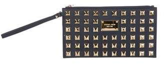 MICHAEL Michael Kors Studded Leather Wristlet