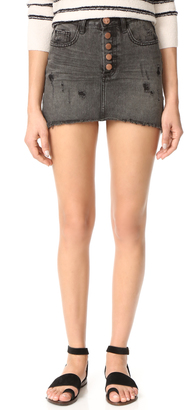 One Teaspoon Coal Miniskirt $109 thestylecure.com