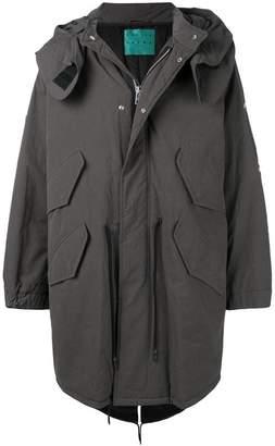 Paura oversized hooded coat