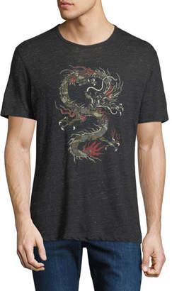 John Varvatos Men's Dragon Graphic Linen T-Shirt