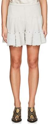 Chloé Women's Crepe Tulle-Ruffle Shorts