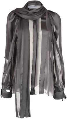 Gloria Coelho sheer blouse with scarf