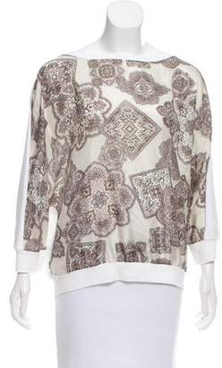 Fabiana Filippi Silk Paisley Top
