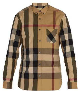 Burberry - House Check Button Down Shirt - Mens - Camel