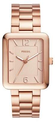 Fossil Women's ES4156 Atwater Three-Hand -Tone Stainless Steel Watch