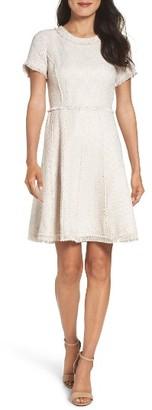 Petite Women's Eliza J Fringe Fit & Flare Dress $148 thestylecure.com