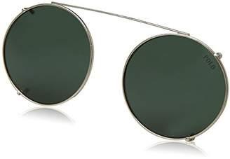 Polo Ralph Lauren Men's Metal Man Clip-on Oval Sunglasses
