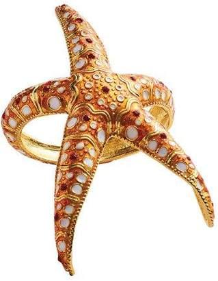 Kim Seybert Starfish Napkin Rings, Set of 4