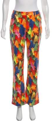 Just Cavalli Printed Low-Rise Wide-Leg Pants