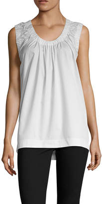 Celine Ruched Collar Top
