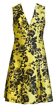 Erdem Women's Yoko Sleeveless Floral A-Line Jacquard Dress