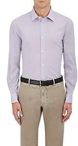 Piattelli MEN'S CHECKED COTTON-BLEND DRESS SHIRT-PINK SIZE XL
