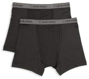 Calvin Klein Little Boy's& Boy's Two-Pack Performance Boxer Briefs