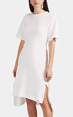 Yohji Yamamoto Regulation Women's Lace-Up Cotton Terry Midi-Dress - White