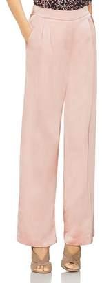 Vince Camuto Satin Pleat-Front Wide-Leg Pants