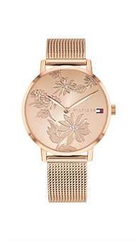 Tommy Hilfiger Ladies Quartz Ip Rose Gold Rose Gold Dial