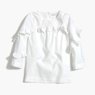 J.Crew Girls' long-sleeve ruffle top