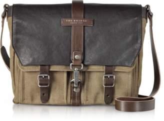 69c13d33a5bfee ... The Bridge Carver-D Canvas Messenger Bag w/Leather Flap