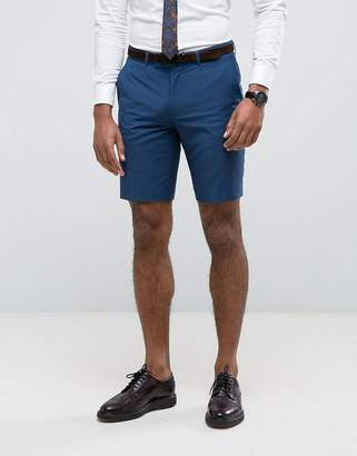 Farah Skinny Shorts In Blue