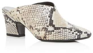 Aquatalia Women's Olima Weatherproof Pointed-Toe Low-Heel Mules