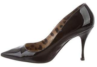 Dolce & Gabbana Pointed-Toe Patent Leather Pumps