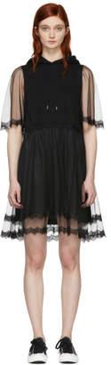 McQ Black Hybrid Hoodie Dress