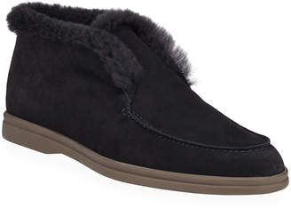 Loro Piana Suede Open Walking Loafers