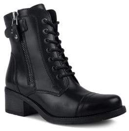 London Fog Colleen Waterproof Leather Combat Boots