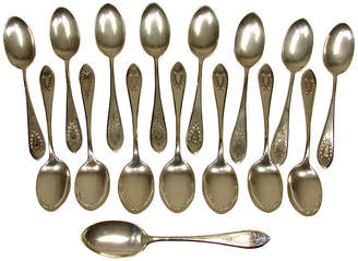 One Kings Lane Vintage Sterling Teaspoons - Set of 16 - Adam Babicz Antiques