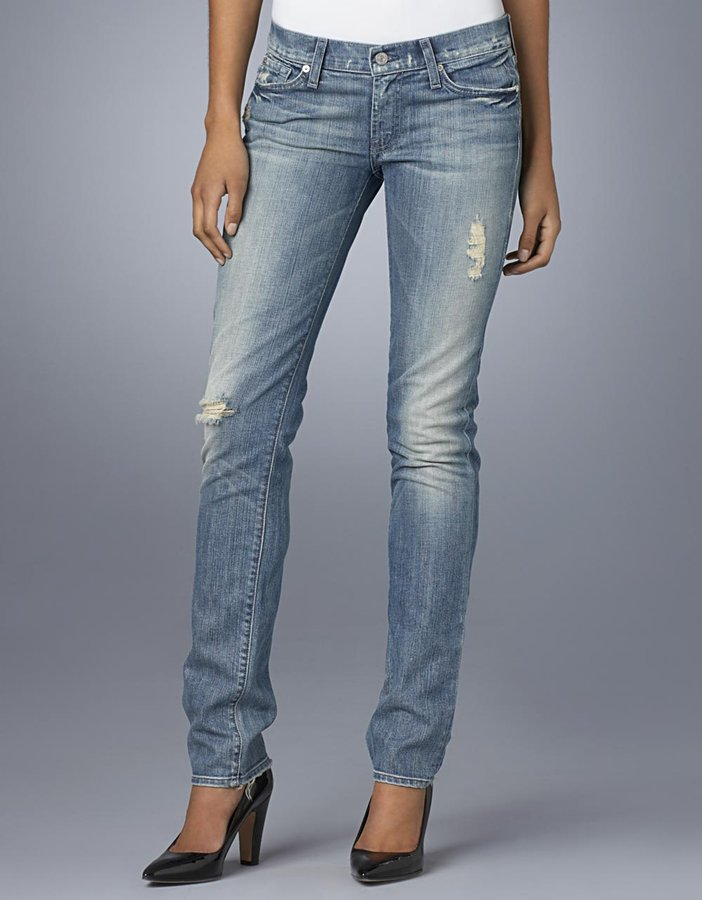 Seven For all mankind Roxanne Distressed Skinny Jeans