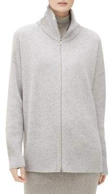Lafayette 148 New York Zip-Up Cashmere Cardigan
