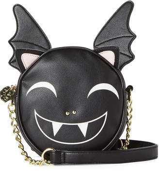 Betsey Johnson Luv Betsey By Black Kitch Vampz Canteen Crossbody