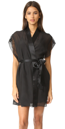 Calvin Klein Underwear CK Black Robe $125 thestylecure.com