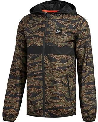 adidas Men's Skateboarding Camo All Over Print Packable Wind Jacket