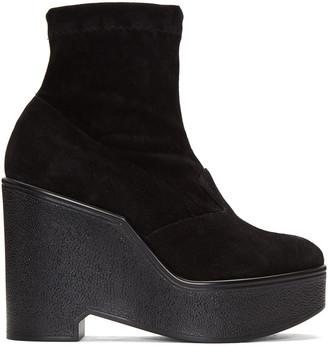 Robert Clergerie Black Suede Bilou Boots $595 thestylecure.com