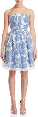 Gaudi' Gaudi Floral Embroidered Fit & Flare Dress