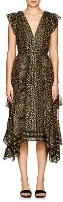 Ulla Johnson Women's Aurelie Floral Silk Midi-Dress