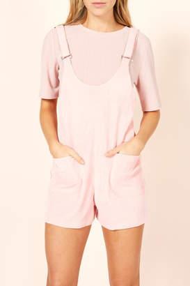 MinkPink Pink Overall Romper