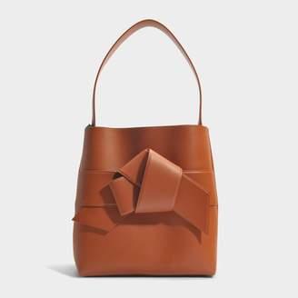 Acne Studios Musubi Shopper Bag in Cognac Calf and Lambskin